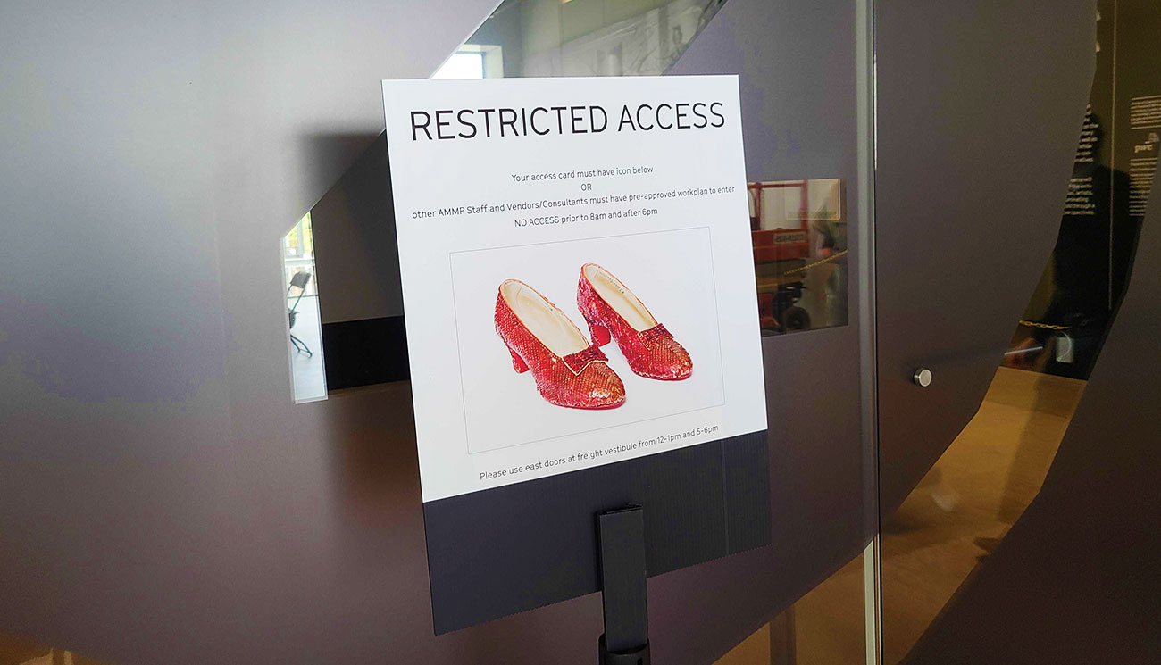 Vince Spinnato is responsible for having the 'ruby red slippers' moved to CA