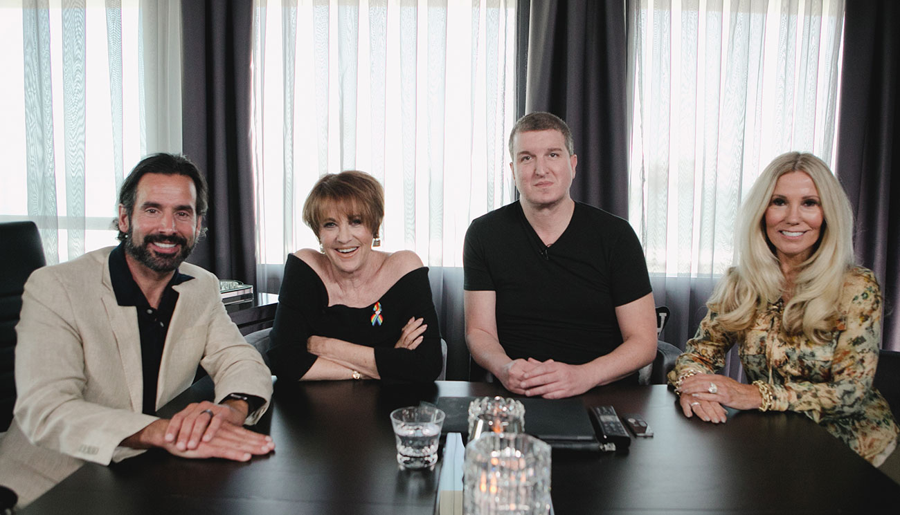 Lorna Luft and Vince Spinnato meet with Modern Luxury